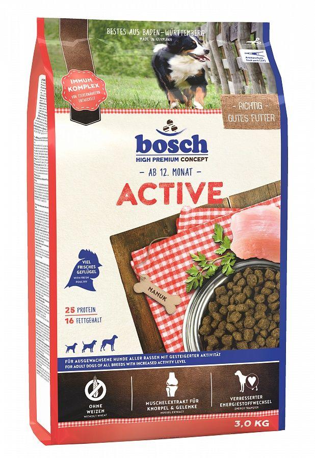 Сухой корм Bosch Active для активных собак