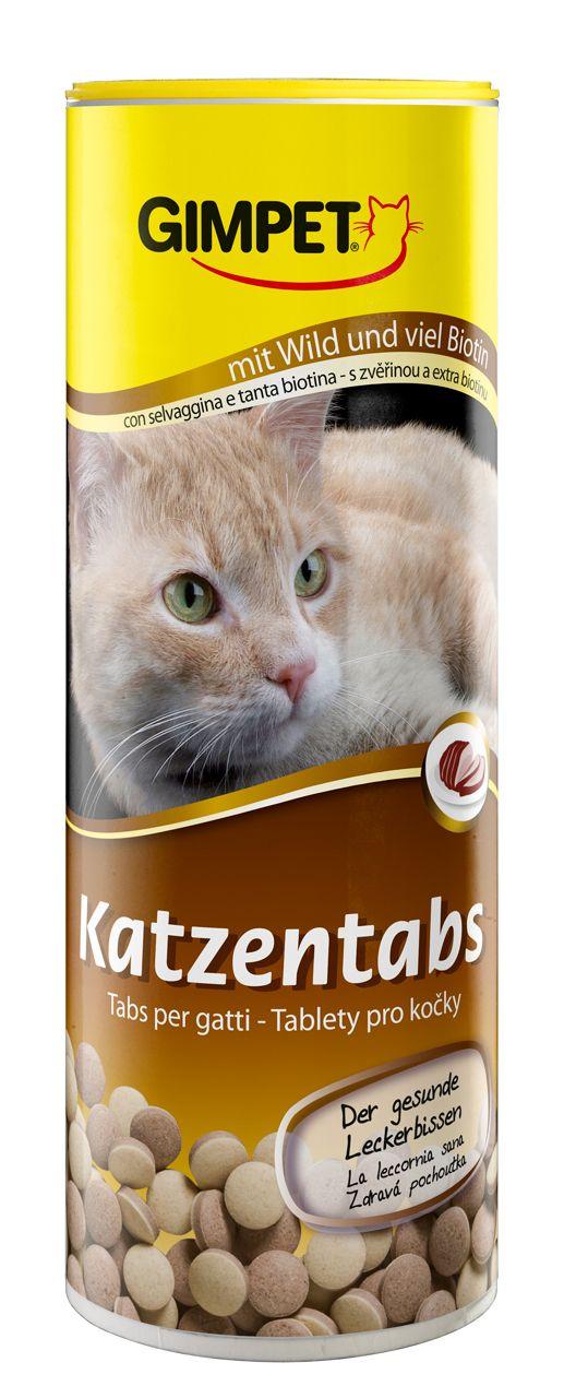 Витаминизированное лакомство Gimpet Katzentabs с дичью для кошек