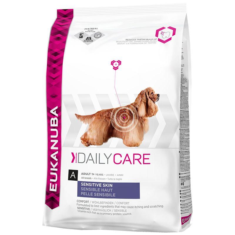 Сухой корм Eukanuba Daily Care Adult Sensitive Skin для взрослых собак всех пород с чувствительной кожей