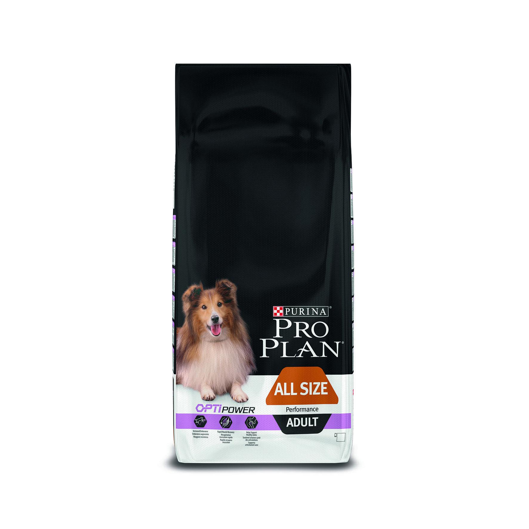 Сухой корм Pro Plan All Size Adult Performance для активных взрослых собак всех пород с курицей и рисом