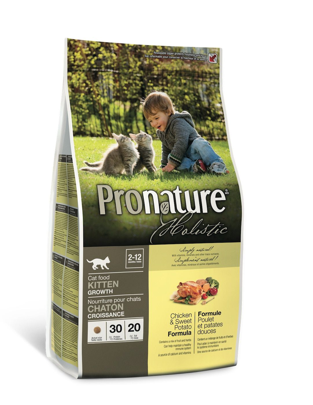 Сухой корм Pronature Holistic с курицей и сладким картофелем для котят
