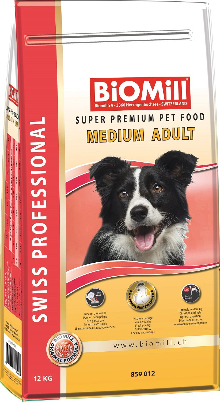 Сухой корм Biomill Swiss Professional Medium Adult для взрослых собак средних и крупных пород