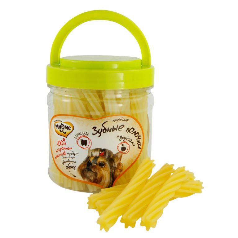 Лакомство Мнямс крученые зубные палочки с фруктами для собак 340 г