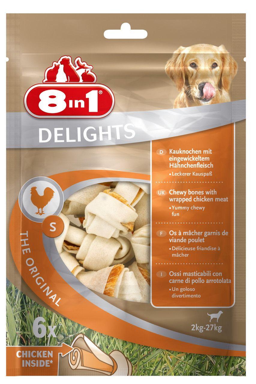 Косточка 8in1 Delights с куриным мясом для собак