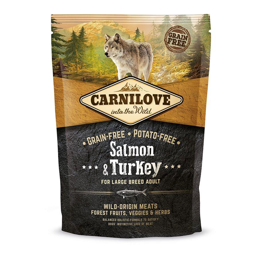 Сухой корм Brit Carnilove Salmon&Turkey For Large Breed Adult с лососем и индейкой беззерновой для взрослых собак крупных пород