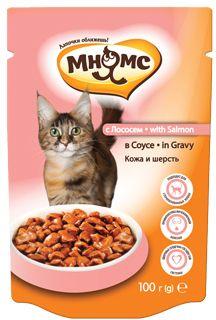 Паучи Мнямс кожа и шерсть для взрослых кошек