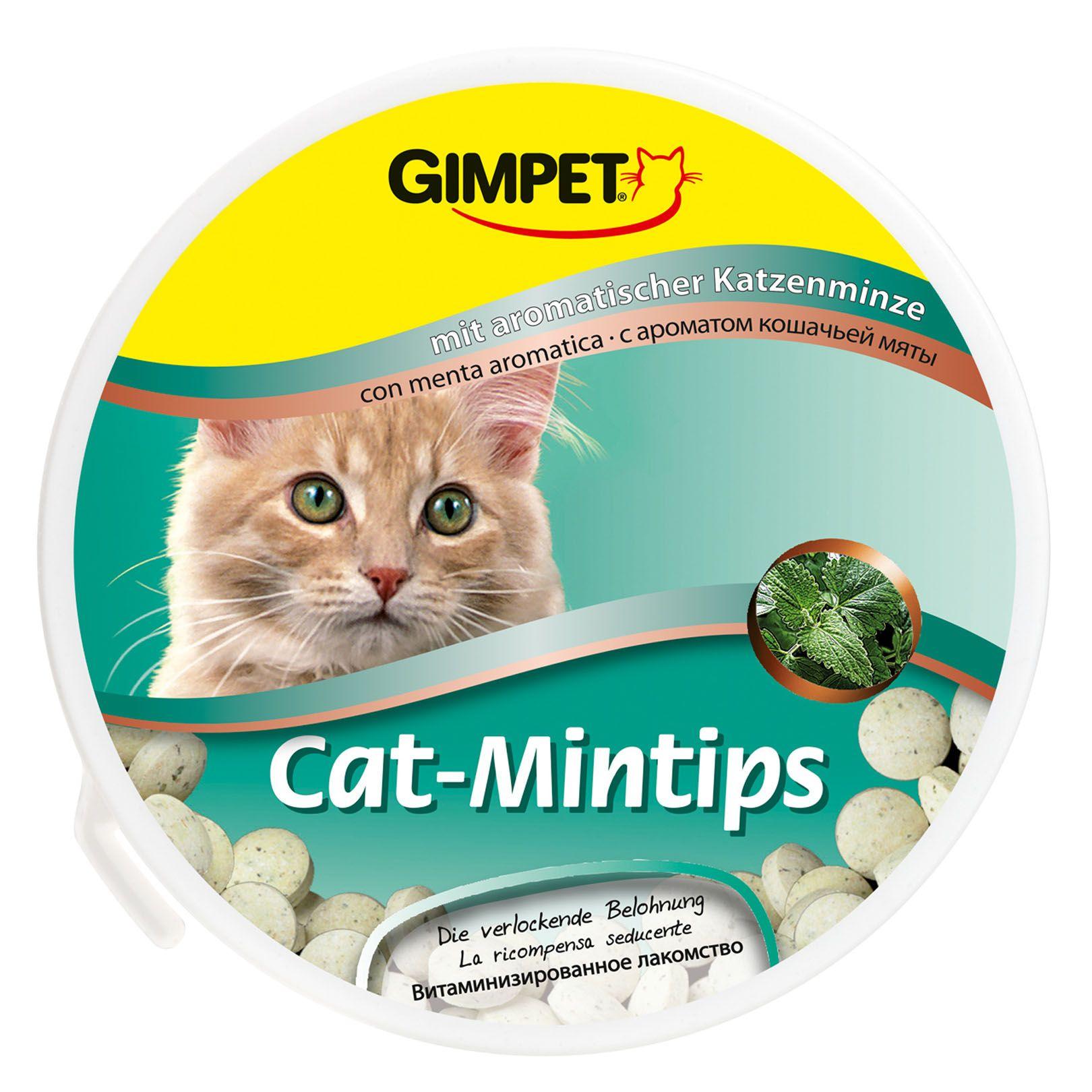 Витаминизированное лакомство Gimpet Cat-Mintips с кошачьей мятой для кошек