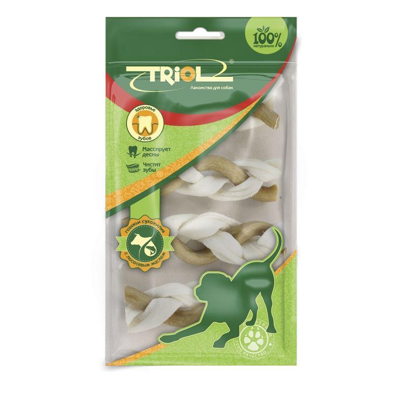 Косичка Triol с маслом лосося для собак