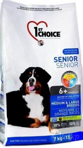 Сухой корм 1st Choice Senior Medium&Large для пожилых собак средних и крупных пород