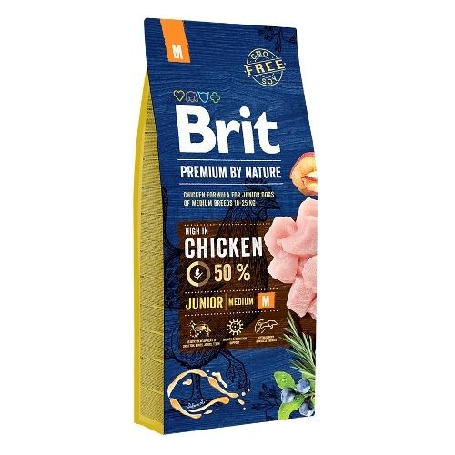 Сухой корм Brit Premium by Nature Junior M для молодых собак средних пород (2-12 мес)