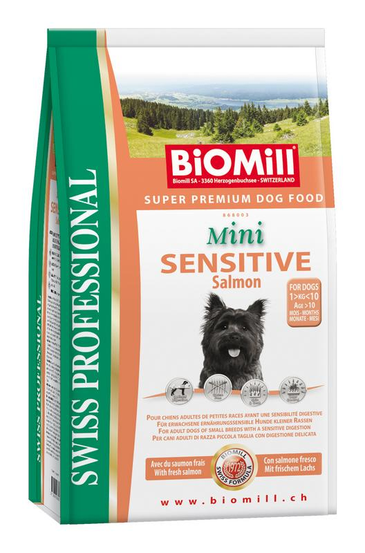 Сухой корм Biomill Swiss Professional Mini Sensitive Salmon&Rice для привередливых и проблемных собак мелких и карликовых пород