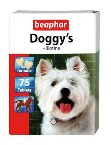 Витаминизированное лакомство Beaphar Doggy's+Biotin для собак с биотином 75 таб