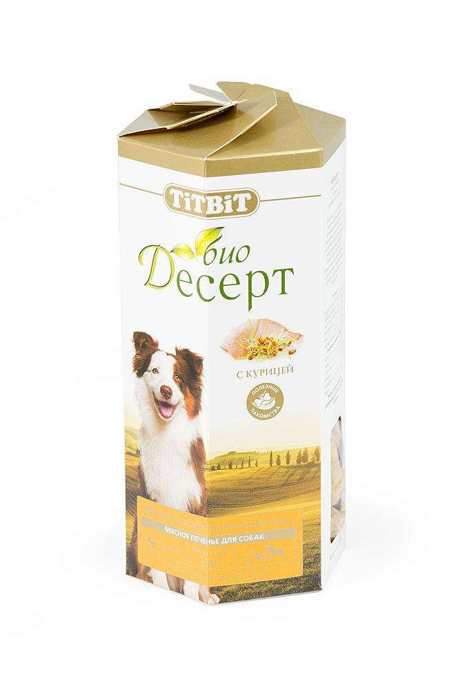 Печенье TiTBiT с курицей стандарт для собак