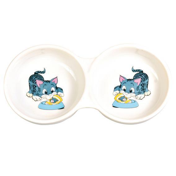 Миска Trixie керамическая двойная 4014