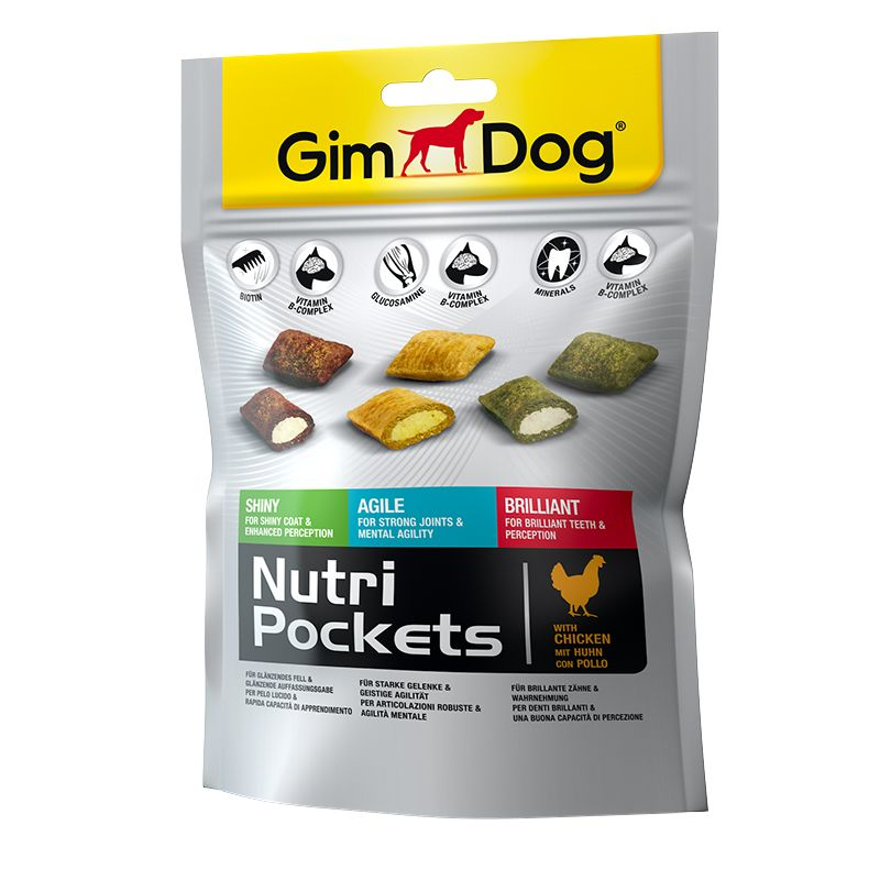 Подушечки Gimdog NutriPockets Mix для собак 150 г