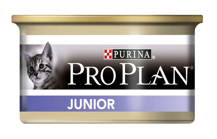 Консервы Pro Plan Junior для котят мусс с курицей и печенью, 85 гр