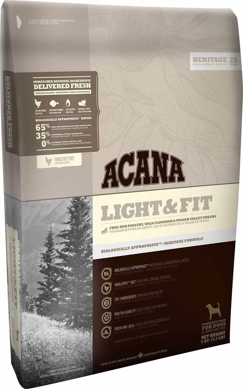 Сухой корм Acana Heritage Light&Fit для собак с повышенной массой тела