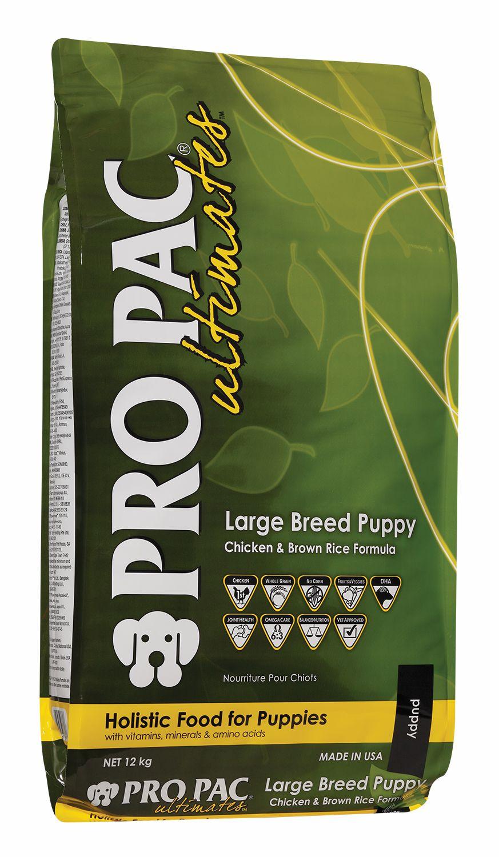 Сухой корм Pro Pac Ultimates Large Breed Puppy Chicken&Brown Rice с курицей и коричневым рисом для щенков крупных пород