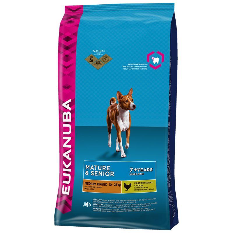 Сухой корм Eukanuba Mature&Senior Medium Breed для зрелых и пожилых собак средних пород