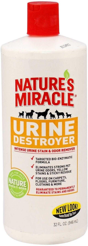 Уничтожитель пятен, запахов и осадков от мочи 8in1 Nature's Miracle Urine Destroyer 945 мл