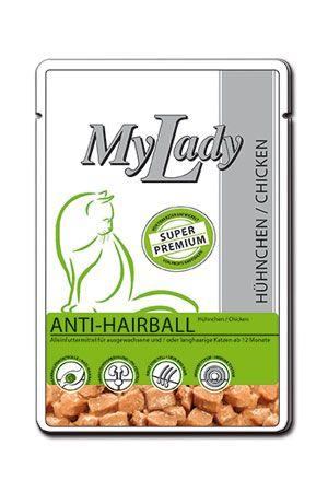 Паучи Dr. Alder's My Lady Anti-Hairball c мясом курицы для взрослых длинношерстных кошек 85 г