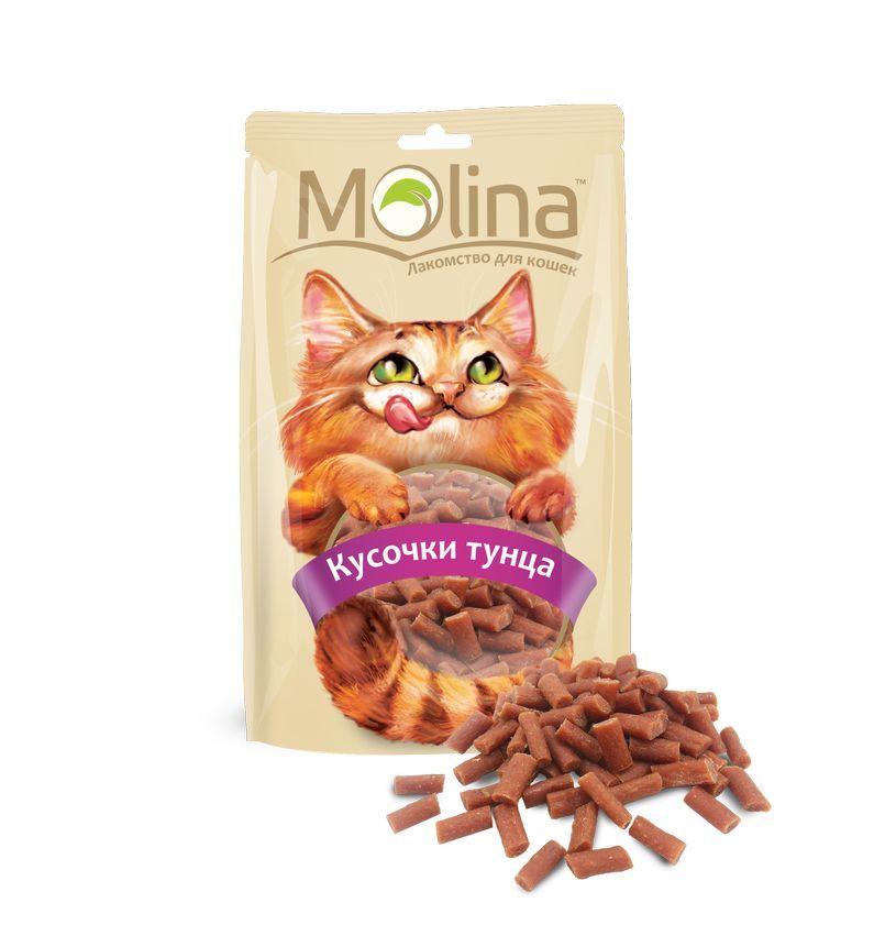 Лакомство Molina кусочки тунца для кошек 80 г