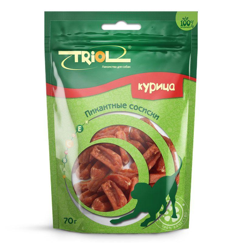 Сосиски Triol пикантные для собак, 70 г