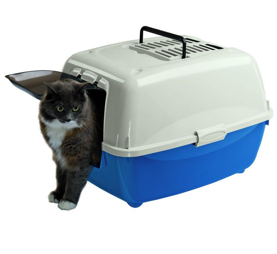 Лоток Ferplast BELLA угольный для кошек с крышей