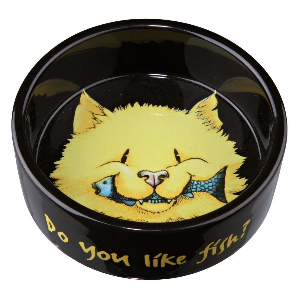 Миска Trixie Do you like Fish керамическая для кошек