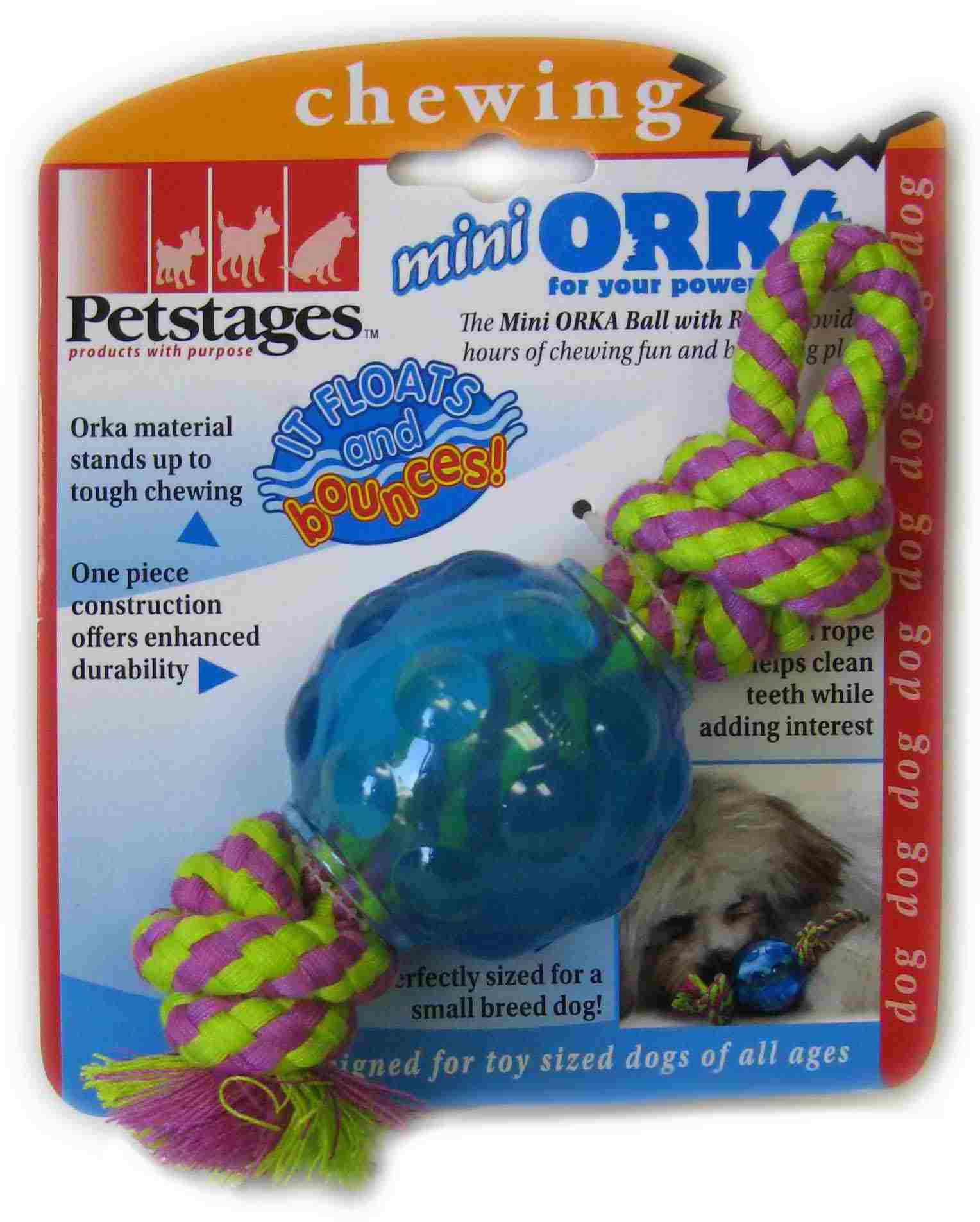 """Игрушка для собак Petstages Mini """"ОРКА-мяч с канатом"""""""