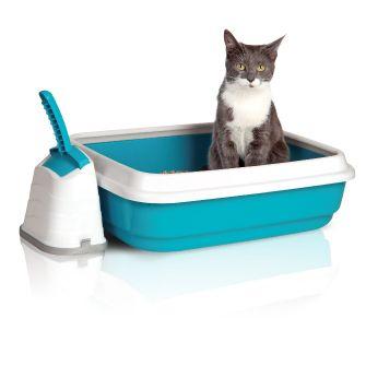 Лоток IMAC DUO с бортом и совком для кошек