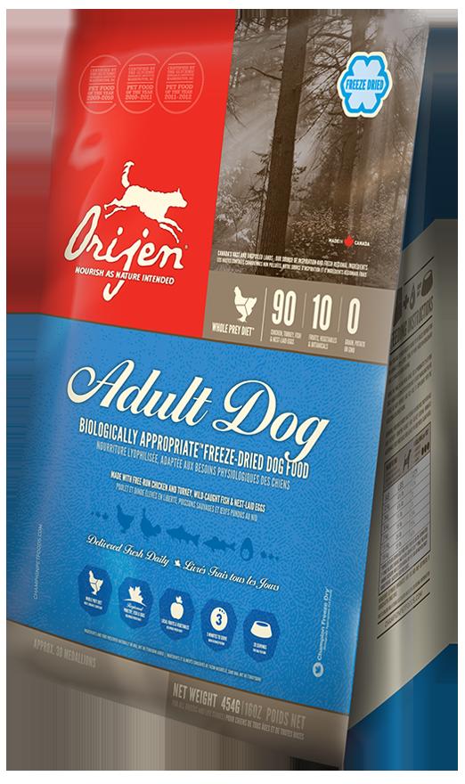 Сухой корм Orijen Adult Freeze-Dried сублимированный для собак всех пород