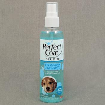 Спрей 8in1 Perfect Coat Freshening Spray Baby Powder очищающий с ароматом детской присыпки для собак