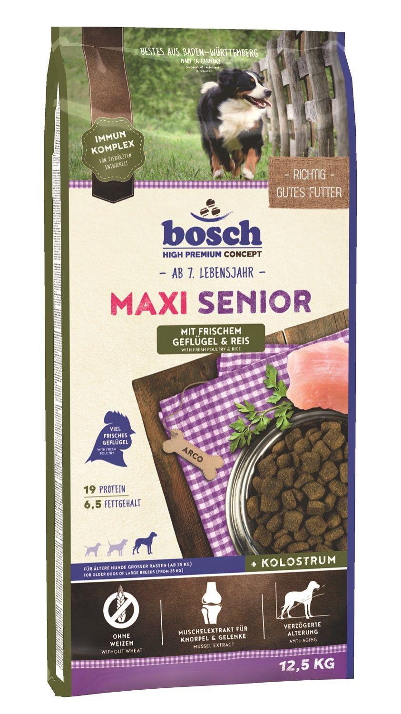 Сухой корм Bosch Maxi Senior Poultry&Rice с птицей и рисом для пожилых собак крупных пород