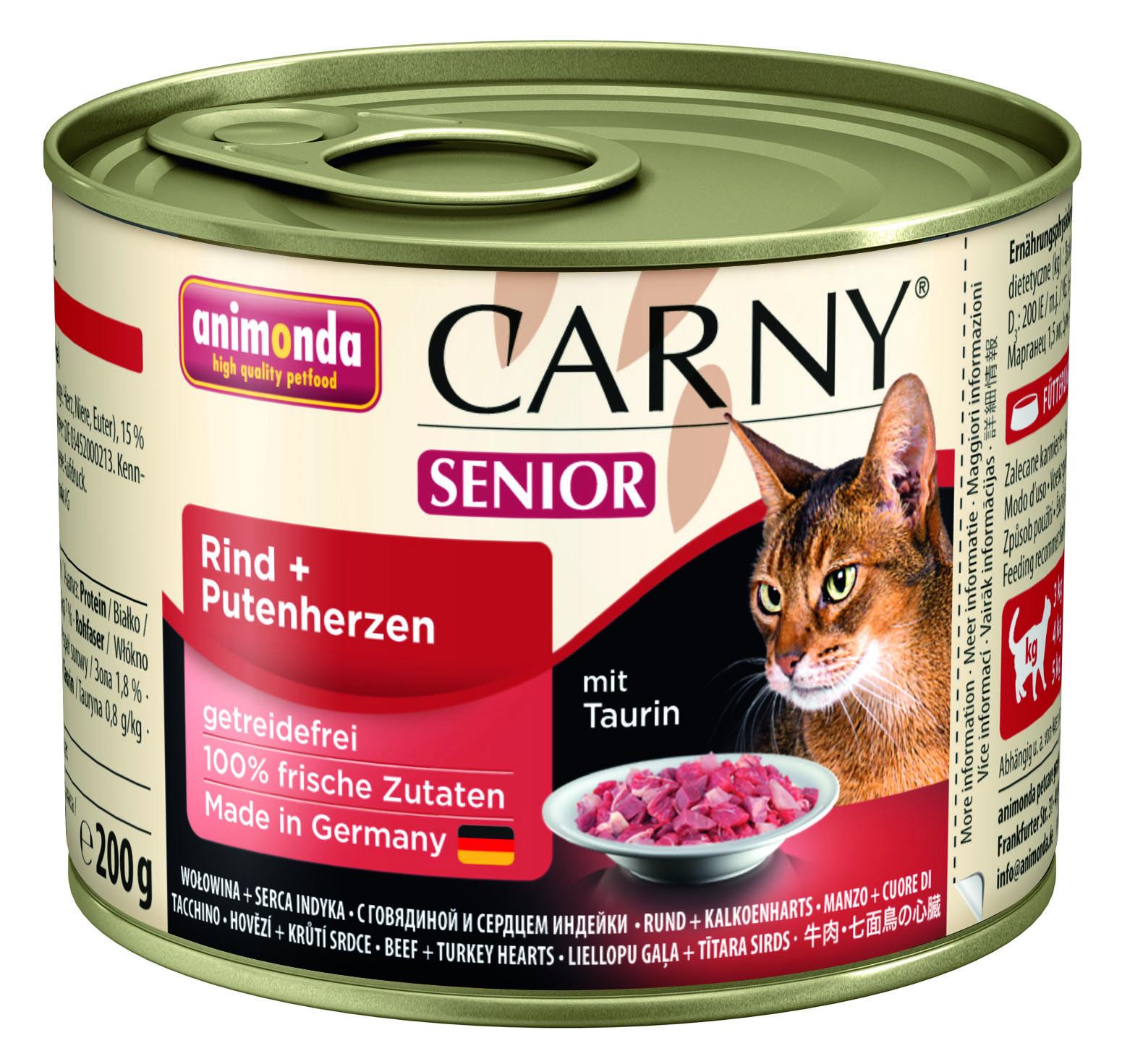 Консервы Animonda Carny Senior для кошек старше 7 лет 200 г