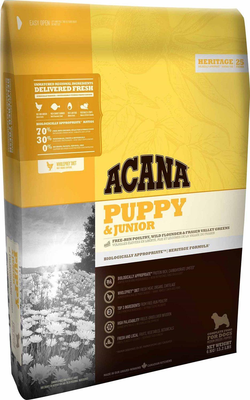 Сухой корм Acana Heritage Puppy&Junior для щенков средних пород