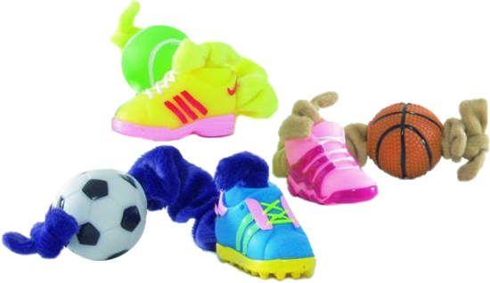 Игрушка I.P.T.S. Beeztees Эластичная плюшевая веревочка с мячиком на одном конце и ботинком на другом для собак