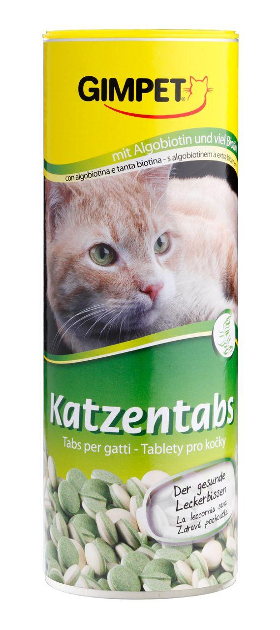 Витаминизированное лакомство Gimpet Katzentabs с биотином и водорослями для кошек
