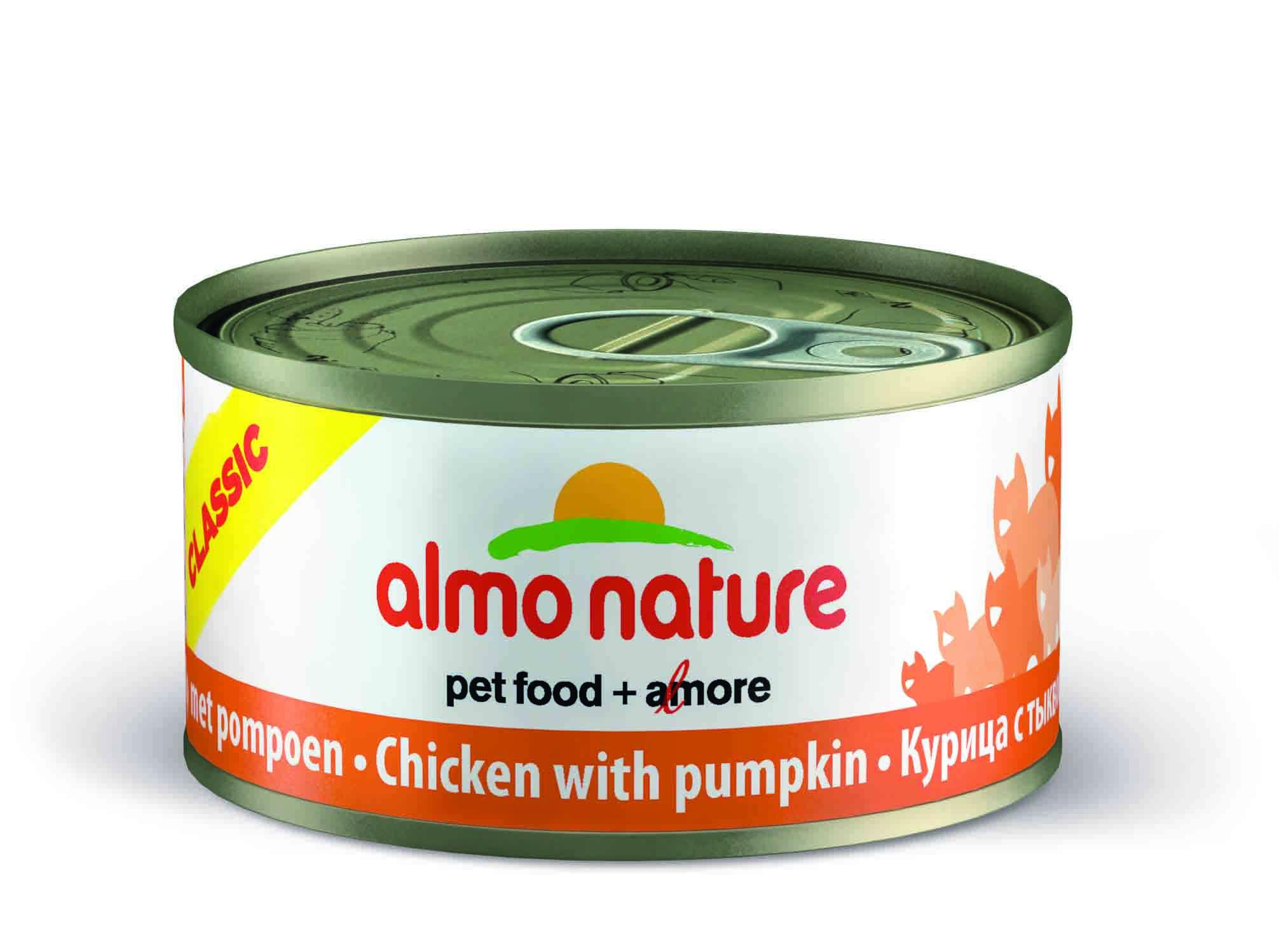 Консервы Almo Nature Classic с курицей и тыквой для взрослых кошек