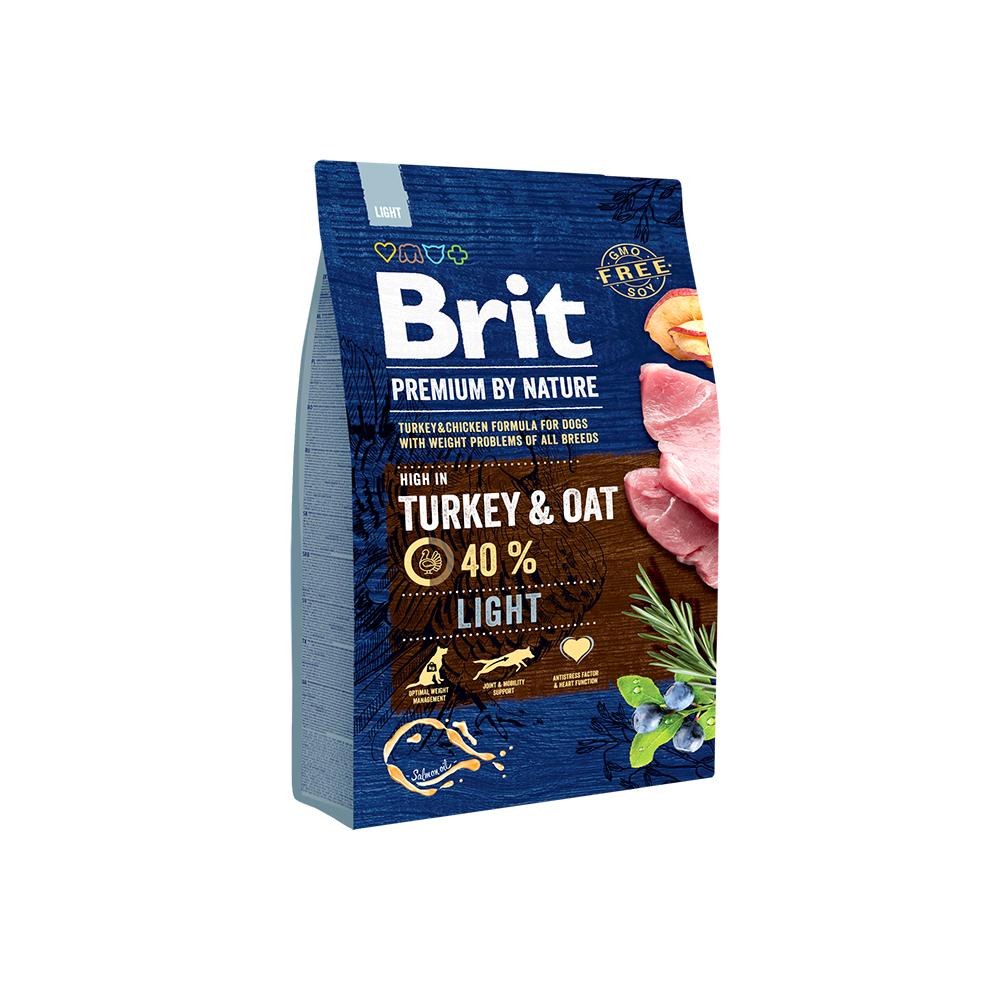 Сухой корм Brit by Nature Premium Light для собак, склонных к полноте