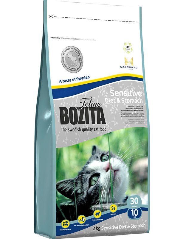 Сухой корм Bozita Feline Sensitive Diet&Stomach для кошек с чувствительным пищеварением