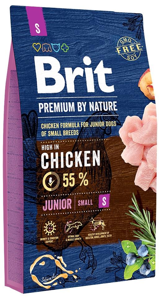 Сухой корм Brit by Nature Premium Junior S для молодых собак мелких пород