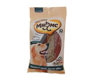 Мясные полоски Мнямс для собак ассорти, 12 шт х 10 г