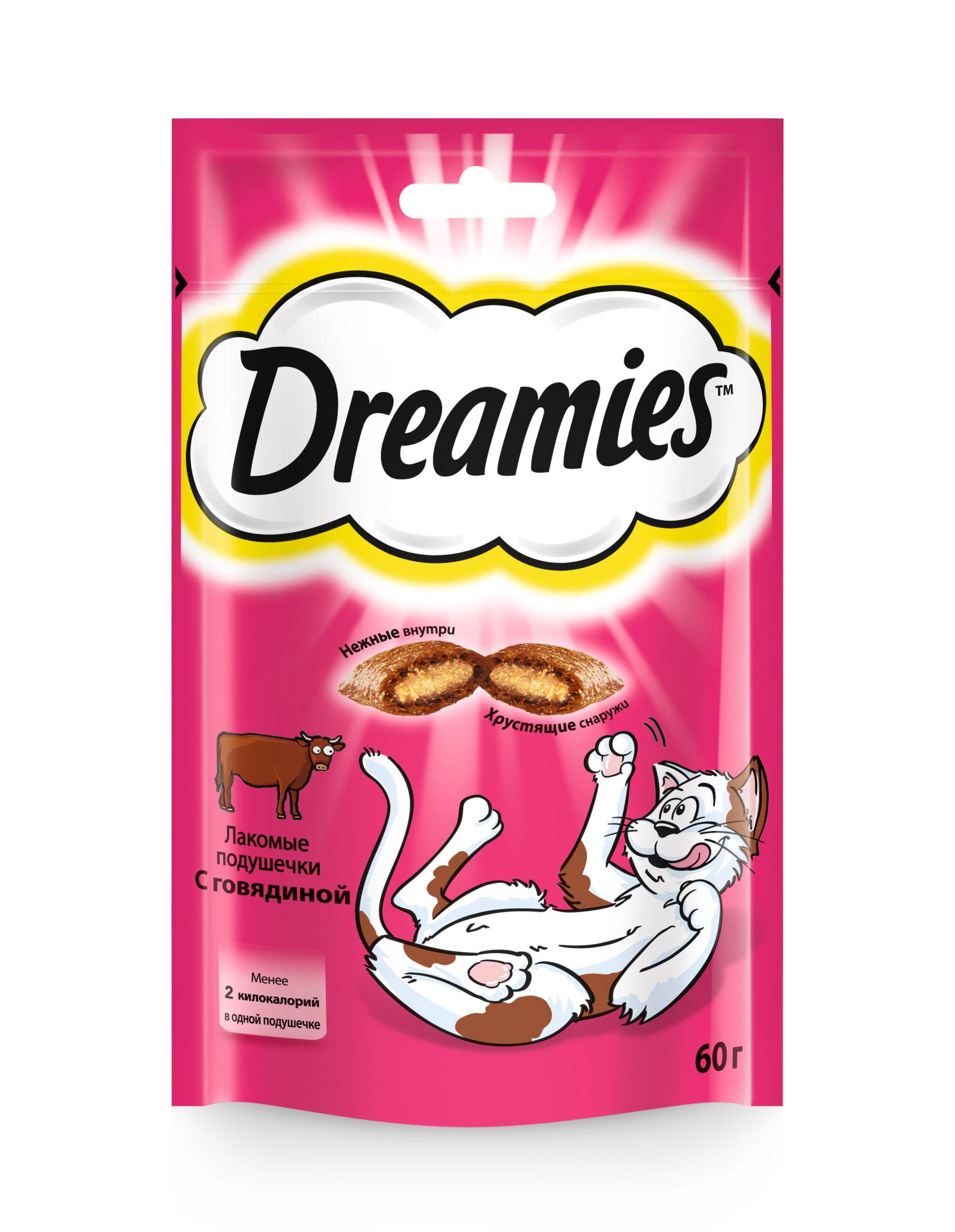 Лакомство Dreamies для кошек с говядиной 60 г