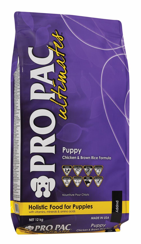 Сухой корм Pro Pac Ultimates Puppy Chicken&Brown Rice с курицей и коричневым рисом для щенков и кормящих сук