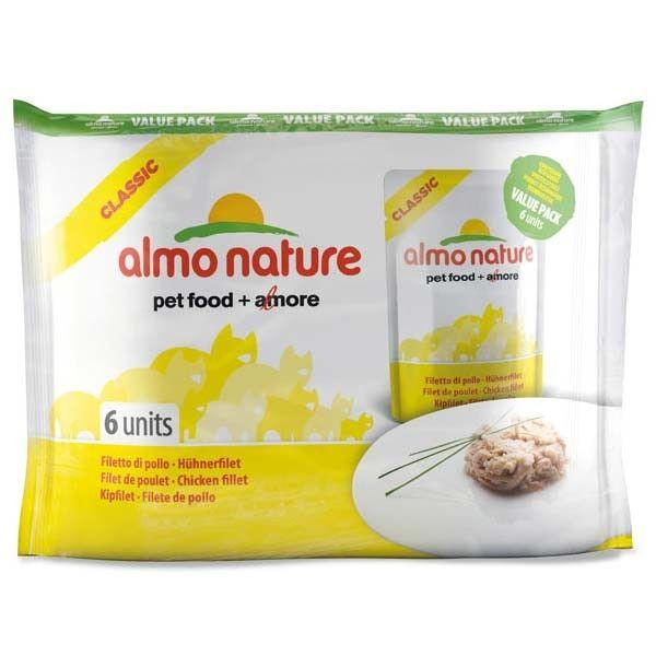 Паучи Almo Nature Classic для взрослых кошек (набор 6 шт по 55 г)