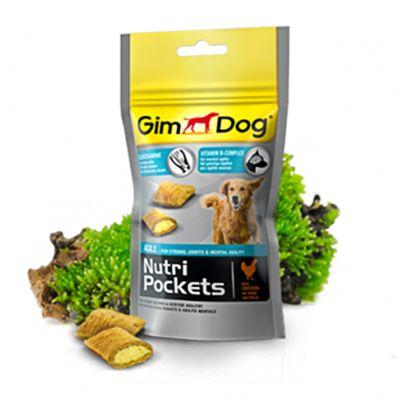 Подушечки Gimdog NutriPockets Agile с глюкозамином и витаминами группы В для собак 45 г