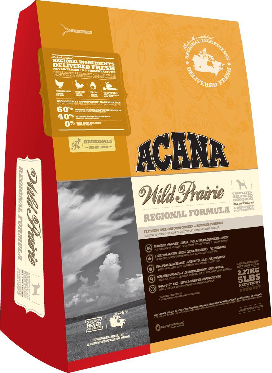 Сухой корм Acana Regionals Wild Prairie Dog с курицей беззерновой для собак
