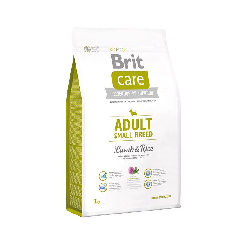 Сухой корм Brit Care Adult Small Breed с ягненком и рисом для взрослых собак мелких пород