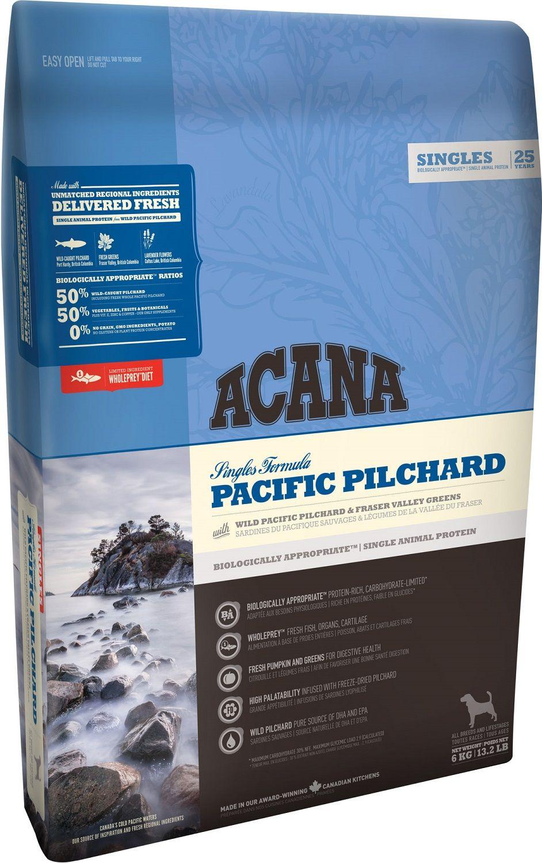 Сухой корм Acana Singles Pacific Pilchard беззерновой с тихоокеанской сардиной для собак